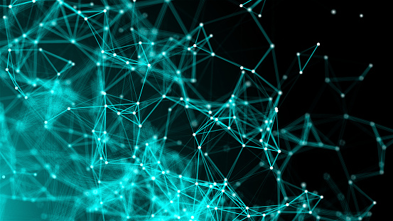 1146532466 istock photo Abstract connection dots. Technology background. Network concept 1212613794