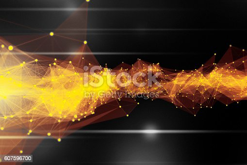 istock Abstract Connection Technology Background 607596700