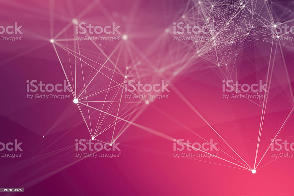 Abstract Connection Technology Background stock photo