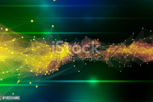 istock Abstract Connection Technology Background 616224480