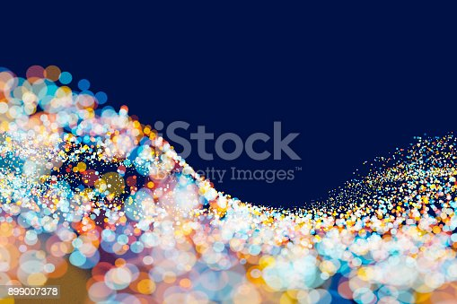 istock Abstract connections of lines and spheres 899007378