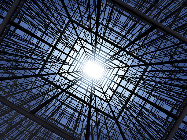 Abstract construction structure stock photo