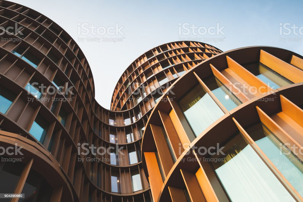 Abstract contemporary architecture photo stock photo