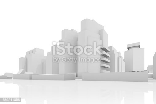istock Abstract contemporary cityscape, 3 d houses 539241056