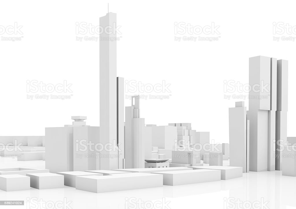 Abstract contemporary cityscape, tall houses royalty-free stock photo