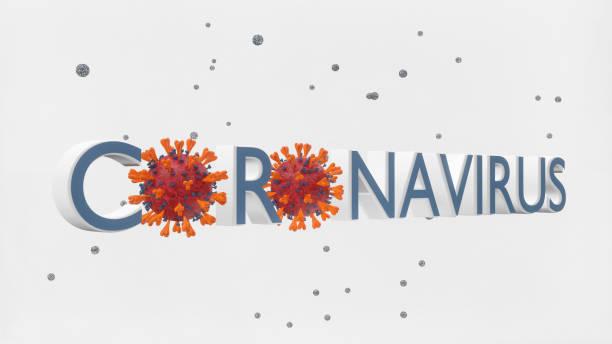 Abstract coronavirus banner stock photo