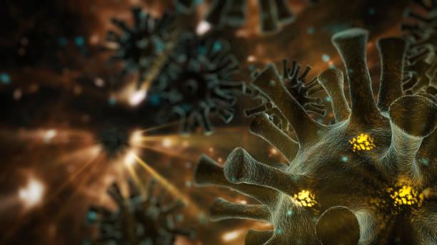 Abstract Coronavirus COVID-19 or virus backgrounds stock photo