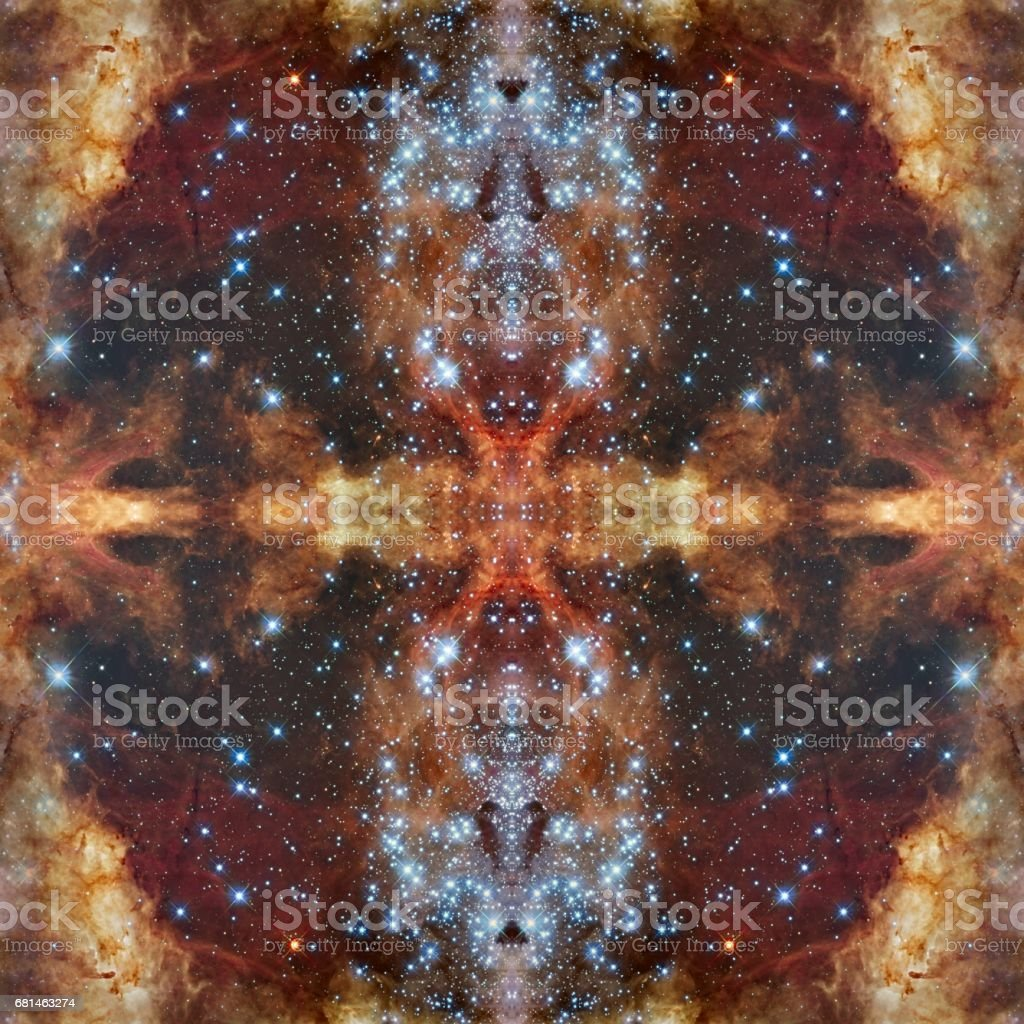 Abstract cosmic background.Seamless colorful pattern. stock photo