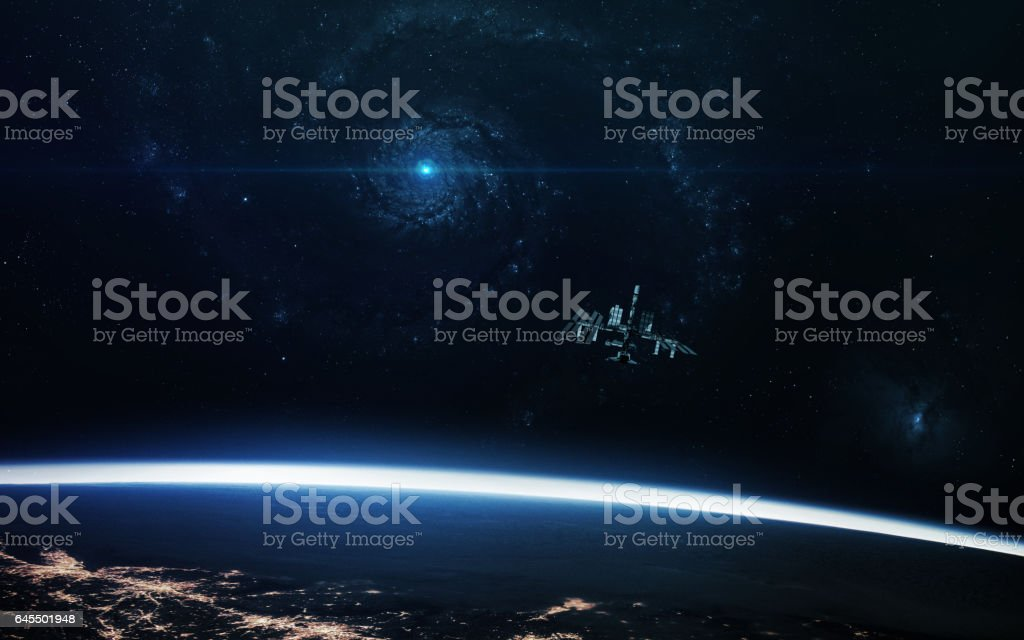 Abstract cosmos background - space. Elements of this image furnished by NASA - Royalty-free Agricultural Field Stock Photo