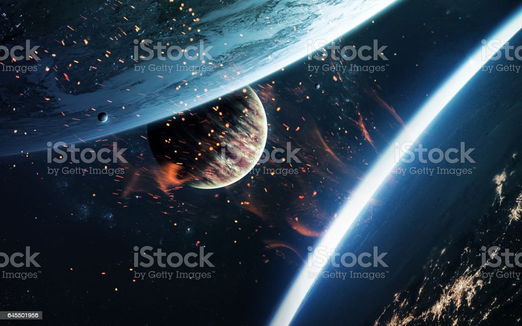 Abstract cosmos background - space. Elements of this image furnished by NASA stock photo