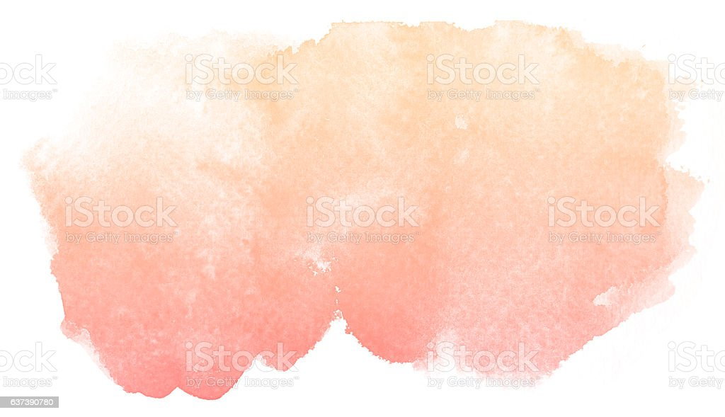 Abstract cream watercolor background. stock photo