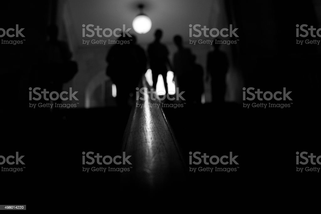 Abstract crowd stock photo