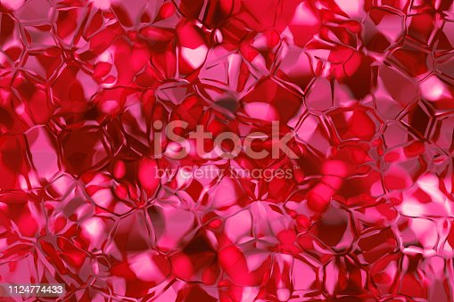 Abstract Crystal Mineral Gemstone Stack Ruby Diamond Bixbite Topaz Quartz Shiny Texture Pretty Red Pink Purple Ombre Love St. Valentine's Day Background Party Invitation Geology Backdrop Fractal Fine Art
