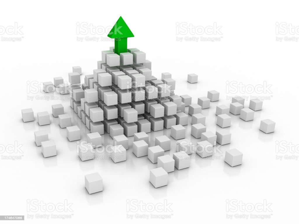 Abstract - Cube and Arrow royalty-free stock photo
