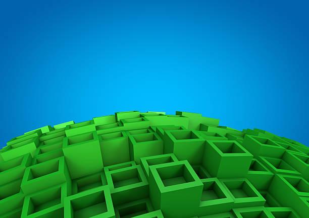 Abstrakte cube Hintergrund – Foto