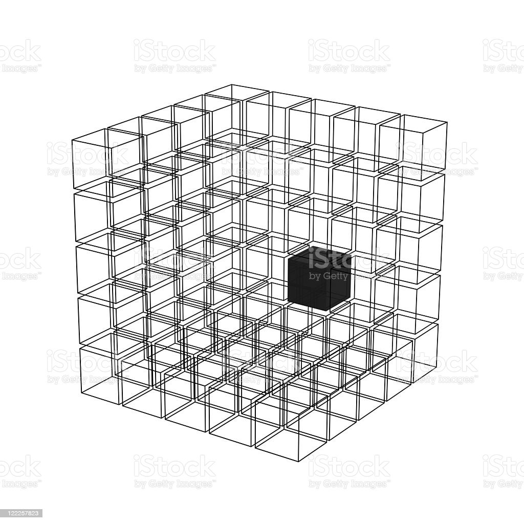 Abstract Cube Construction royalty-free stock photo