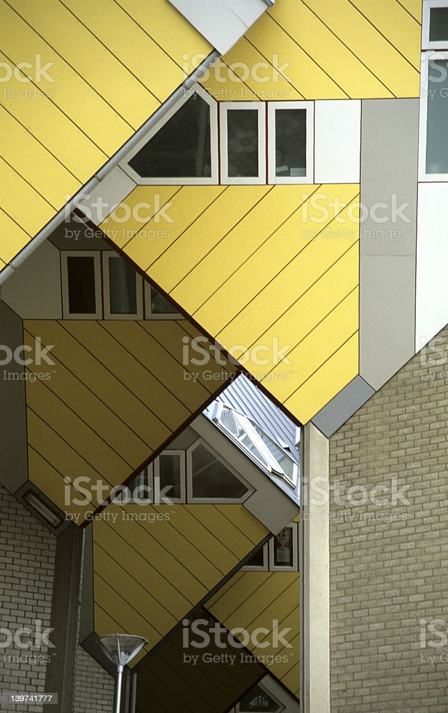 Abstract Cube Houses royalty-free stock photo