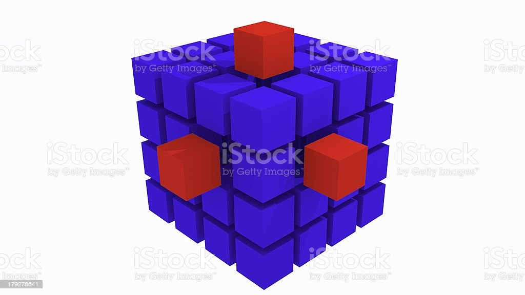 abstract cube royalty-free stock photo