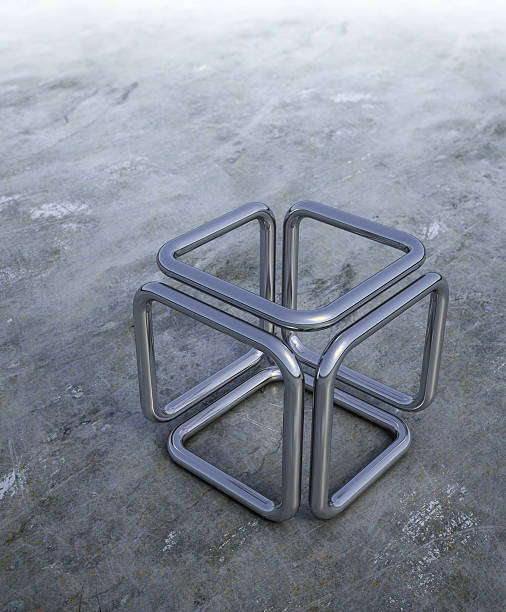 3D abstract cube stock photo