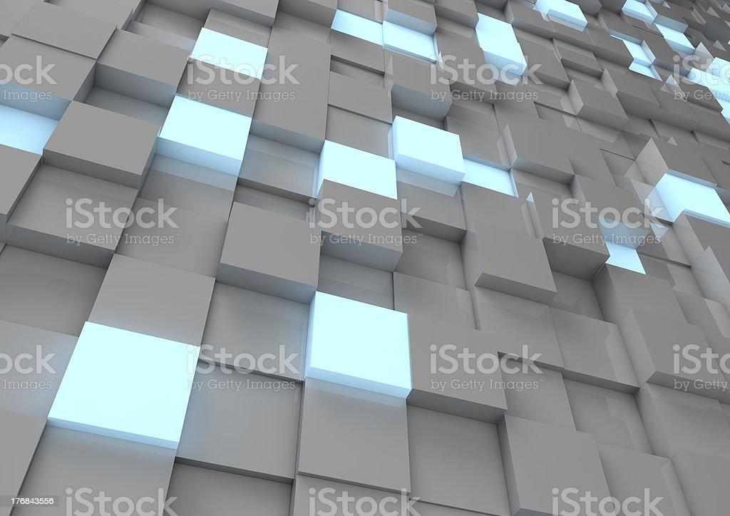 Abstrakte cube Wand – Foto