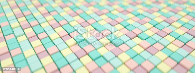 926309124 istock photo 3D Abstract Cubes Background 1255140190