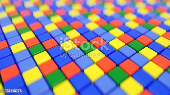 926309124 istock photo 3D Abstract Cubes Background 1255140273