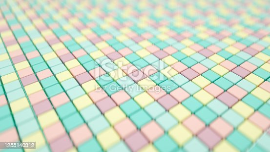 926309124 istock photo 3D Abstract Cubes Background 1255140312