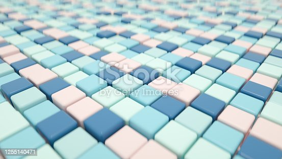926309124 istock photo 3D Abstract Cubes Background 1255140471