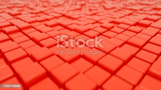 926309124 istock photo 3D Abstract Cubes Background 1255140593