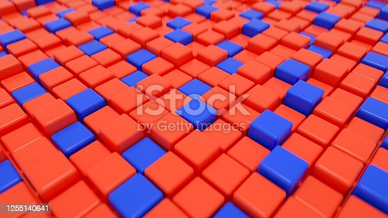 926309124 istock photo 3D Abstract Cubes Background 1255140641