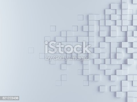 istock Abstract cubes background 521223436