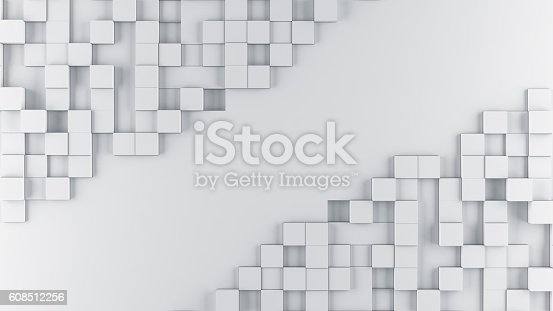 istock Abstract cubes background 608512256