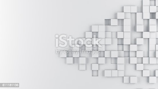 istock Abstract cubes background 611181136