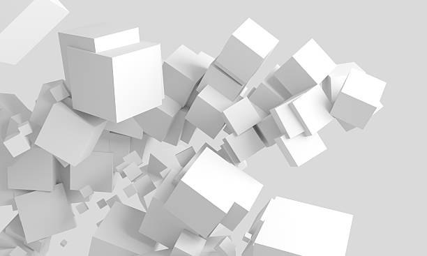 abstract cubes background - cube shape stock pictures, royalty-free photos & images