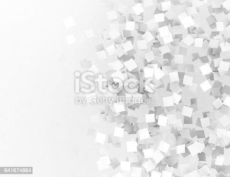 istock Abstract cubes background 641674664