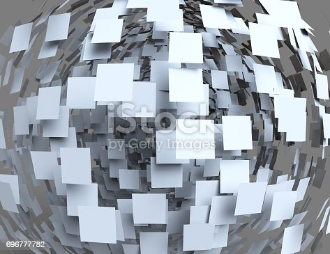 istock Abstract cubes background 696777782