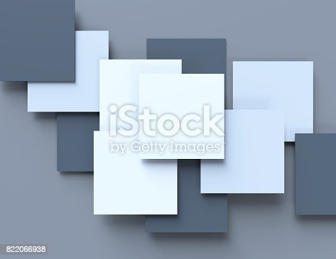 istock Abstract cubes background 822066938