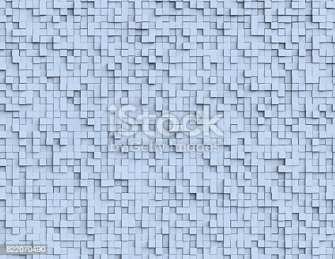 istock Abstract cubes background 822070490