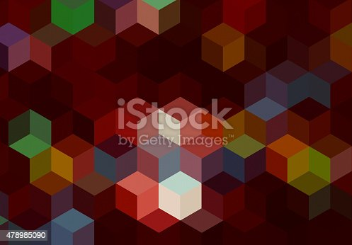 508795172istockphoto Abstract cubes colorful background 478985090