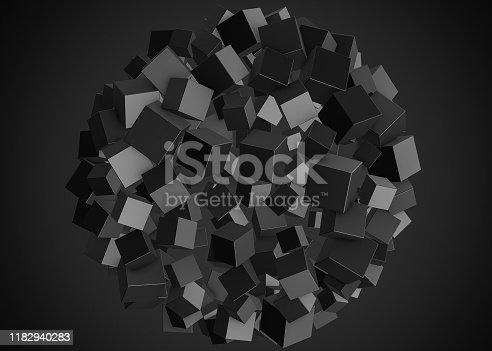 511983606 istock photo Abstract cubes 1182940283