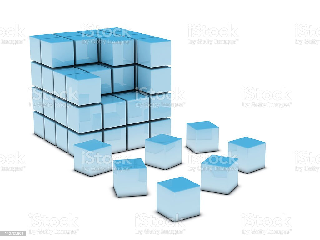 3D abstract Cubes royalty-free stock photo