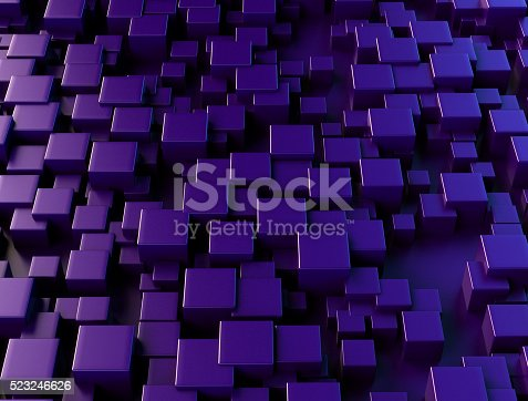 istock 3D Abstract Cubes 523246626