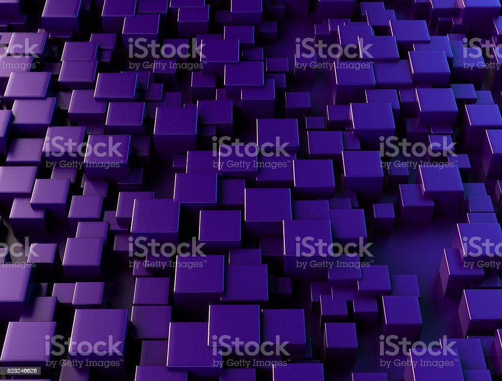 3D Abstract Cubes stock photo