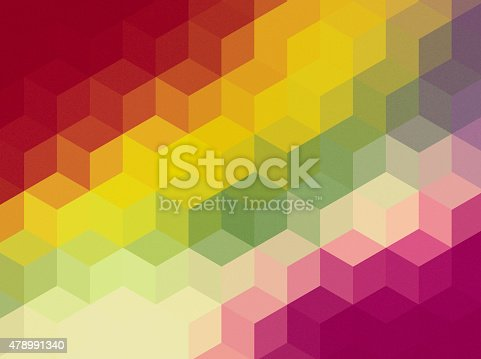508795172istockphoto Abstract cubes retro styled colorful background 478991340