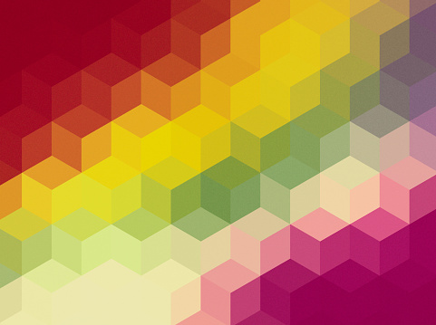 508795172 istock photo Abstract cubes retro styled colorful background 478991340