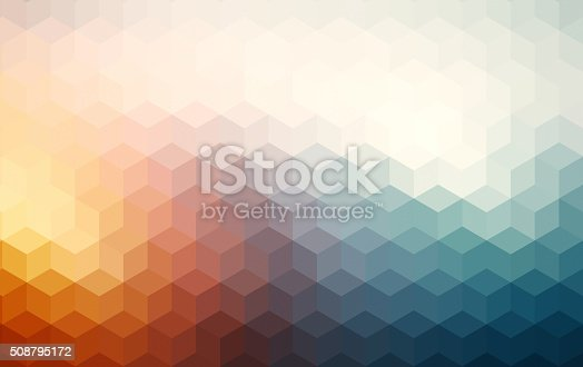 istock Abstract cubes retro styled colorful background 508795172