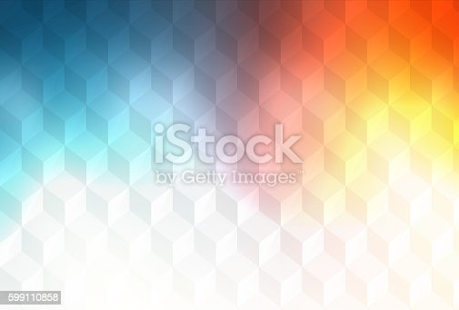 508795172istockphoto Abstract cubes retro styled colorful background 599110858