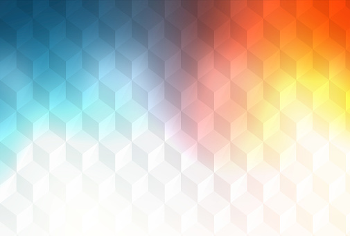 508795172 istock photo Abstract cubes retro styled colorful background 599110858