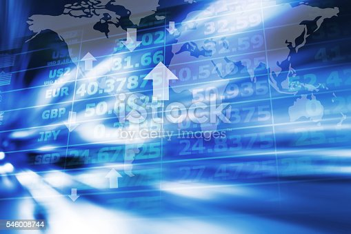 istock Abstract currency exchange 546008744