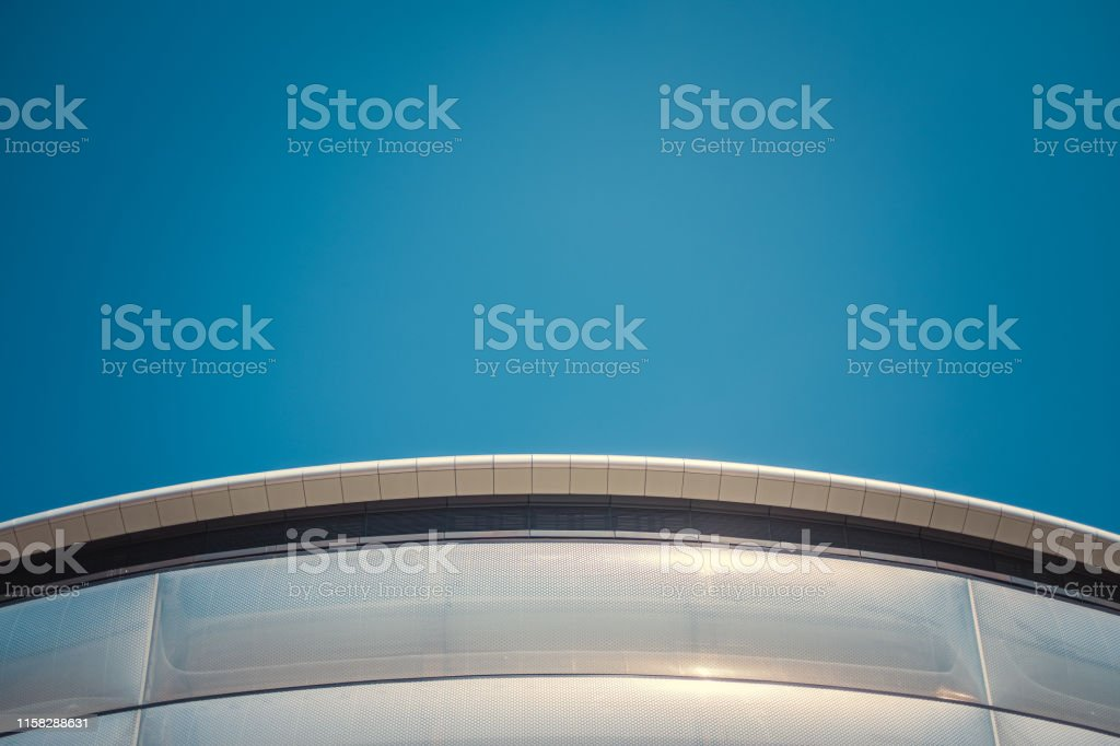 Abstract Detail Of A Curved Section Of A Contemporary Modernist...